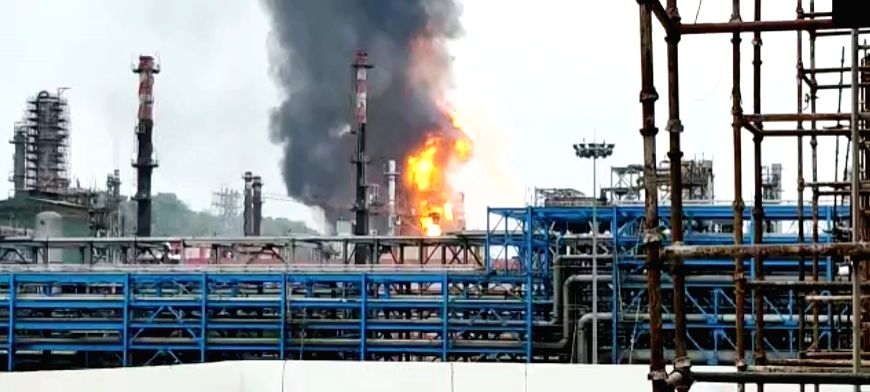 Fire breaks out at HPCL Vizag refinery.