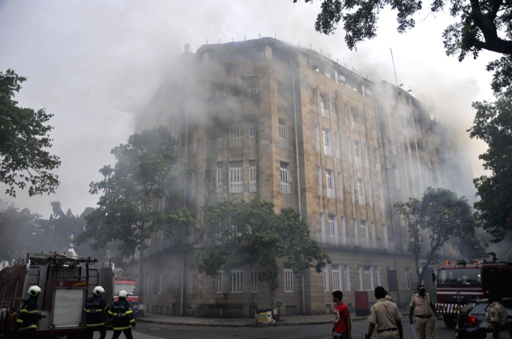 Fire breaks out at Scindia House in Mumbai, on June 1, 2018.