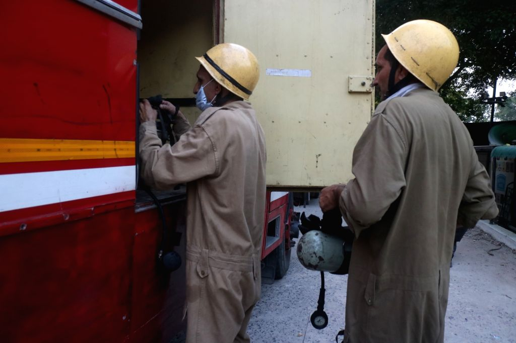 Fire breaks out at the North Delhi Municipal Corporation (NDMC) building, in New Delhi on June 1, 2019.