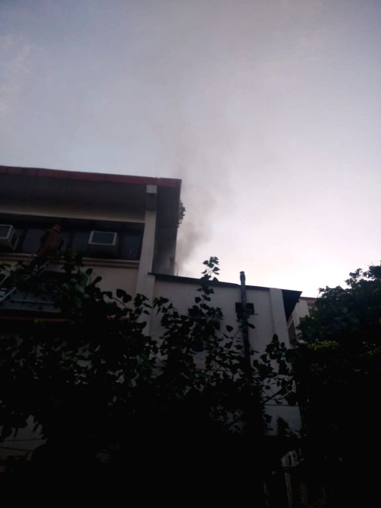 Fire breaks out at Vikas Bhawan in New Delhi on Aug 27, 2019.