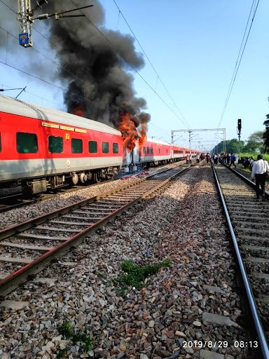Fire breaks out in Telangana Express. (File Photo: IANS)
