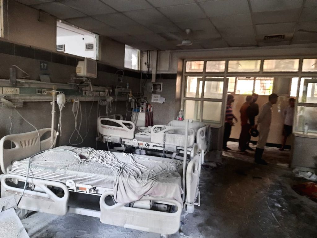 Fire incident in Safdarjung hospital's ICU ward.