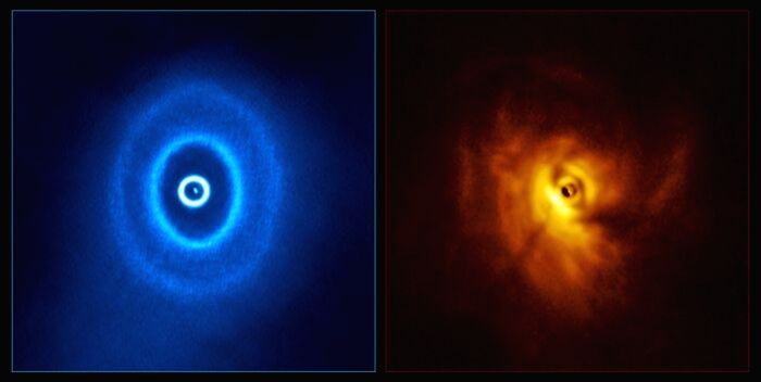 First planet to orbit 3 stars discovered(Credit: ALMA (ESO/NAOJ/NRAO), ESO/Exeter/Kraus et al)