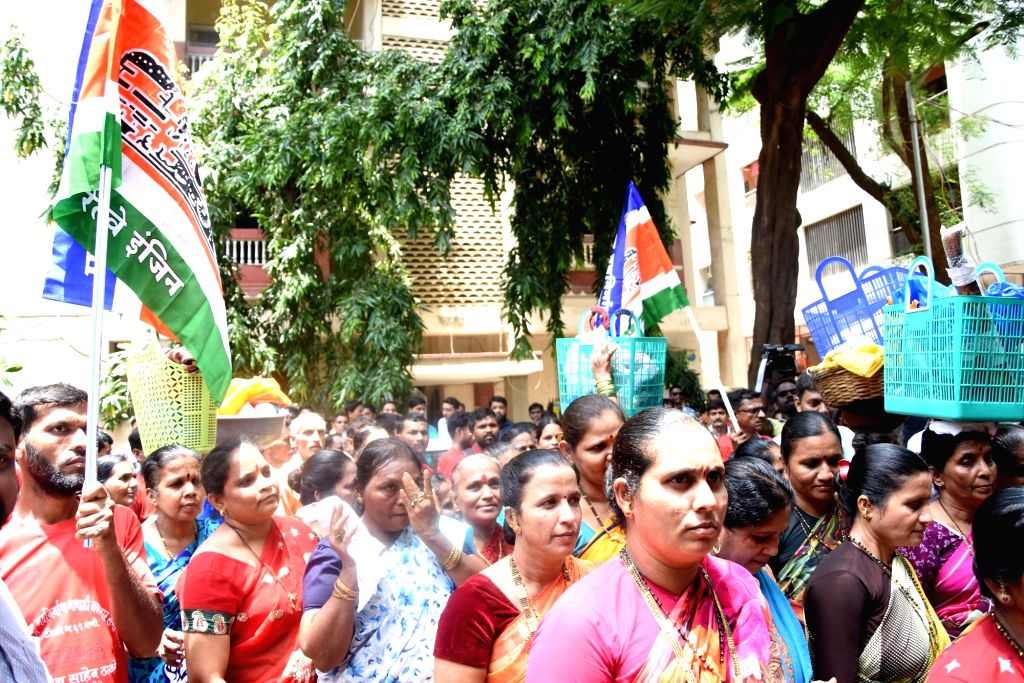 Fisher-women arrive to meet MNS chief Raj Thackeray to press for their demands in Mumbai on July 18, 2019.