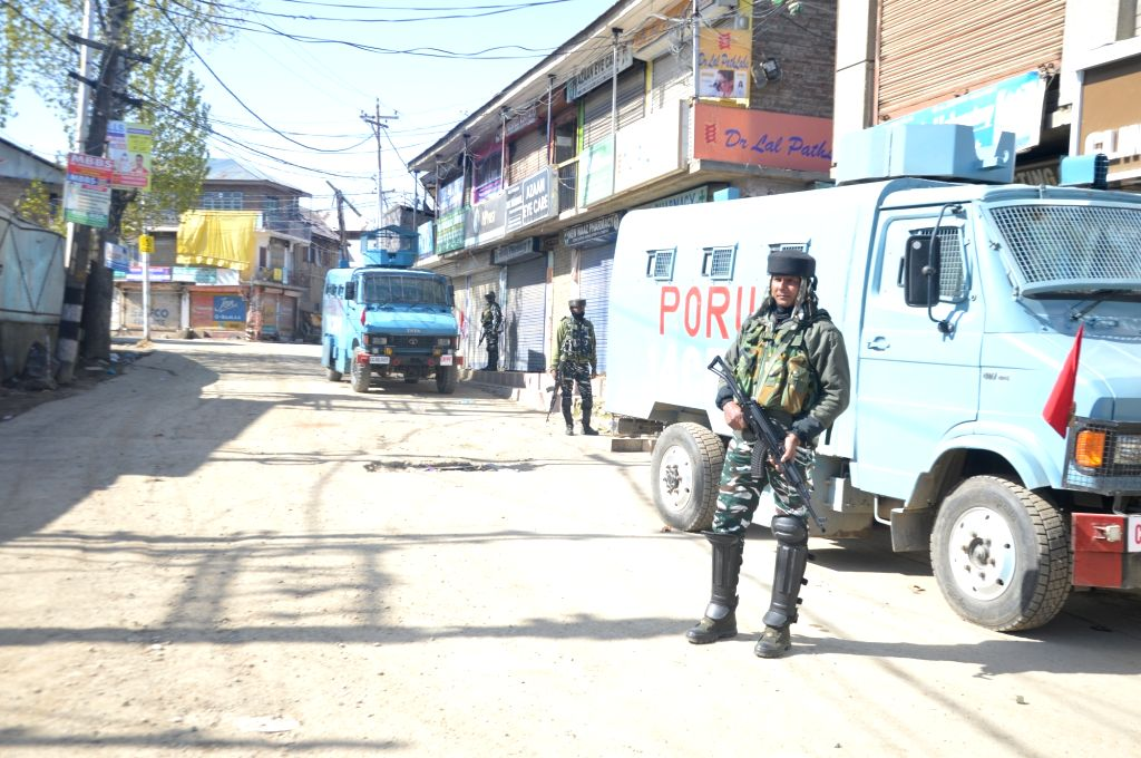 Five terrorists have been killed in an ongoing encounter between the terrorists and security forces in South Kashmir's Shopian district on Friday April 09, 2021.