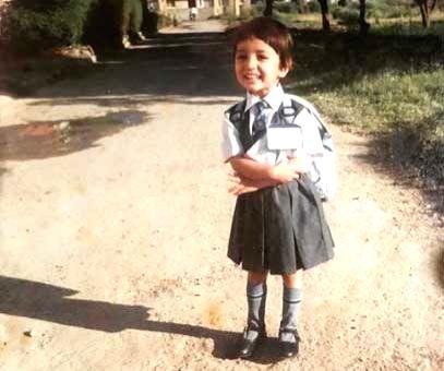 Flashback Friday: Yami Gautam revists first day in school .