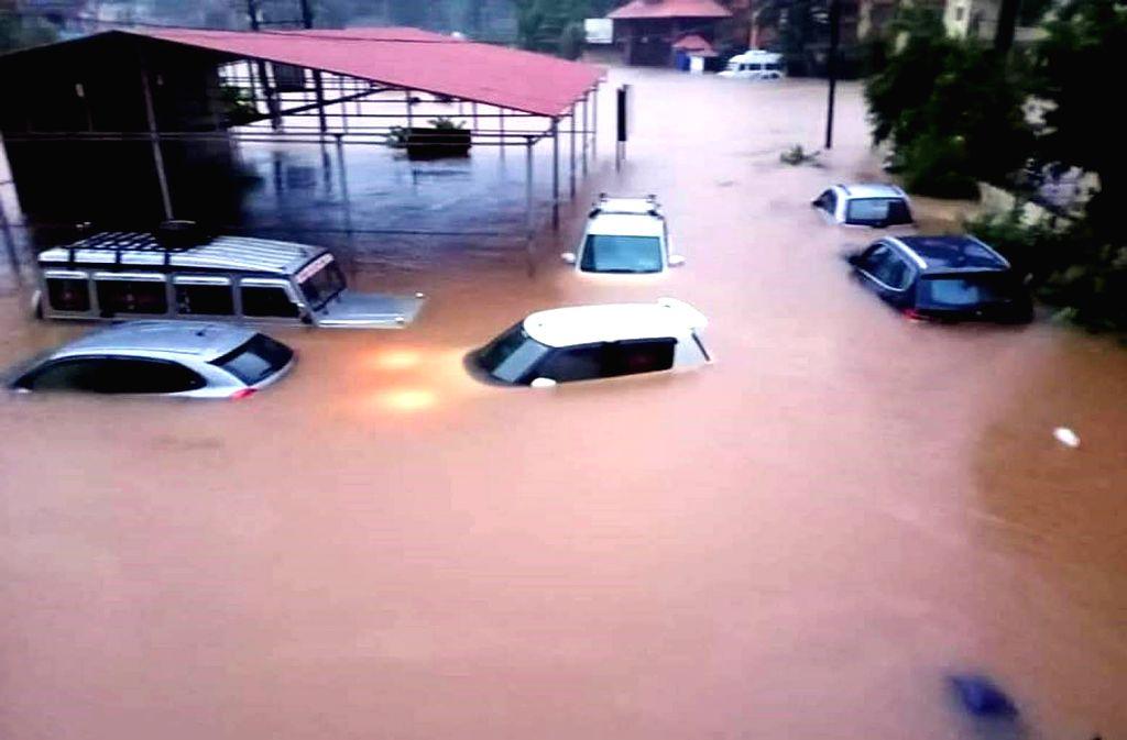 Flooded Srikrishna Mutt area in Karnataka's Udupi after heavy rains