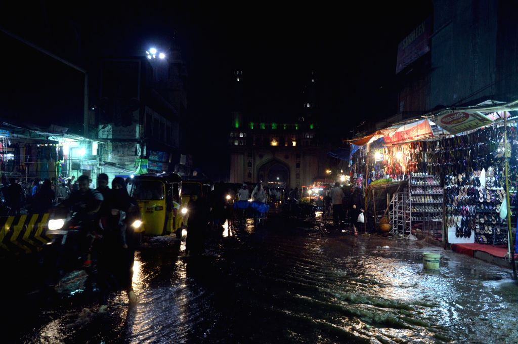 Flooded streets of Hyderabad after heavy rains on Aug 28, 2014.