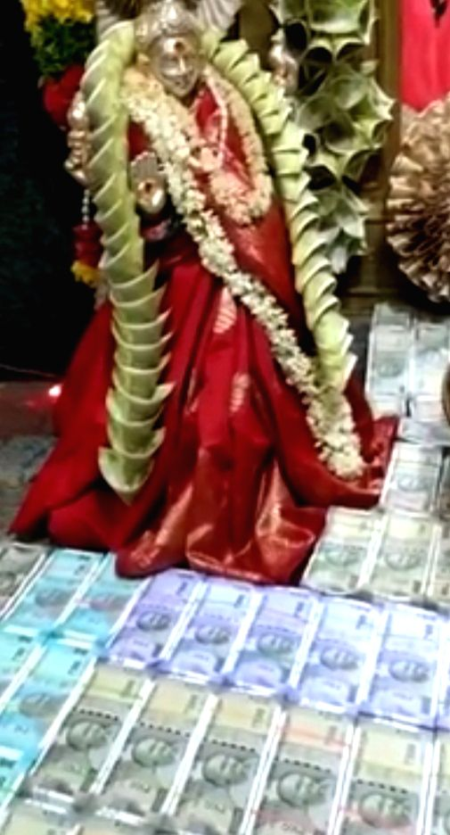 Flowers' made of Rs 1.11 cr offered at Telangana temple.