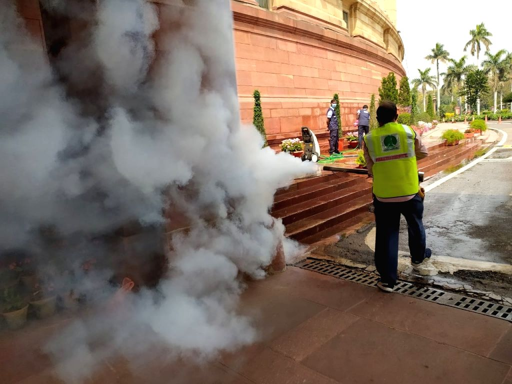Fogging by NDMC in Parliament.
