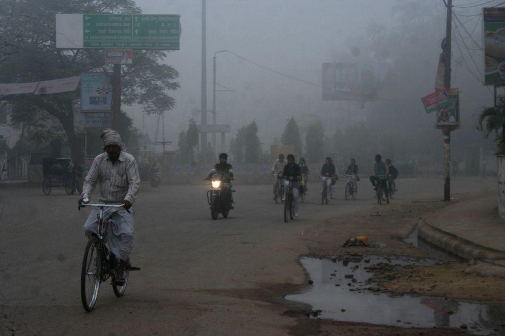 Foggy morning in Varanasi on Dec 7, 2015.