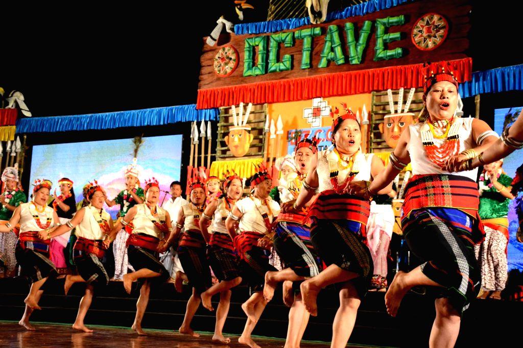 Folk artistes from Nagaland perform during the three-day northeastern festival ??? 'Octave' ??? at Bapu Sabhagar in Patna on Dec 14, 2019.