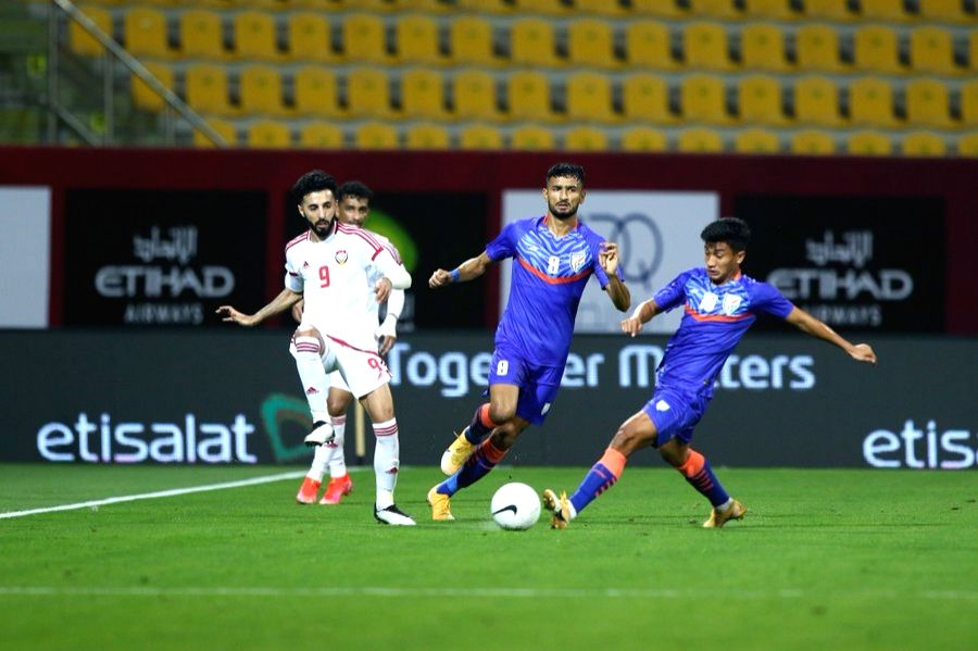 Football: UAE beat India 6-0 in friendly match (lead-1). ( indian football team/twitter )