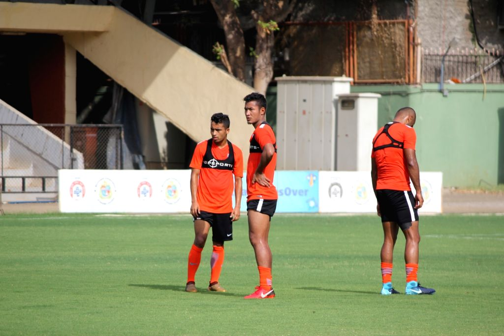 Footballer Lalruatthara during a practice session ahead of Intercontinental Cup, in Mumbai on May 21, 2018.