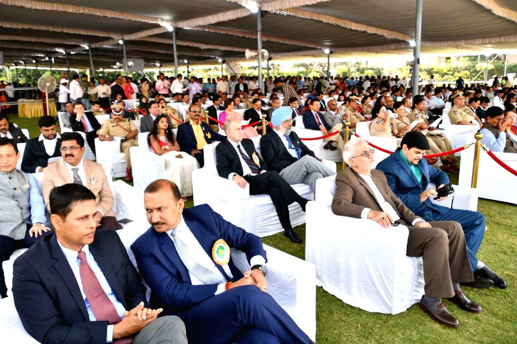 Foreign delegates from Iran witness the 71st Republic Day parade, at Public Garden Lawns in Hyderabad on Jan 26, 2020.