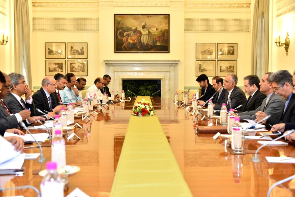 Foreign Secretary Vijay Gokhale and Iran's Deputy Foreign Minister Seyyed Abbas Araghchi at Foreign Office Consultations, in New Delhi on July 16, 2018. - Seyyed Abbas Araghchi