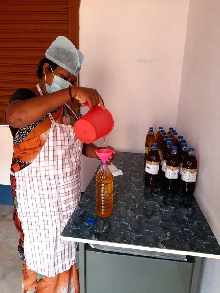 Forest produce getting market, cosmetics and medicines made from safflower, karanj.