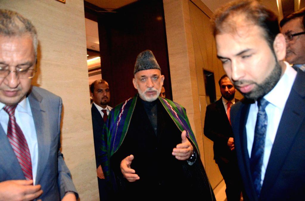 Former Afghanistan president Hamid Karzai during the Mother Teresa Memorial International Awards ceremony in Mumbai on Nov 21, 2016.