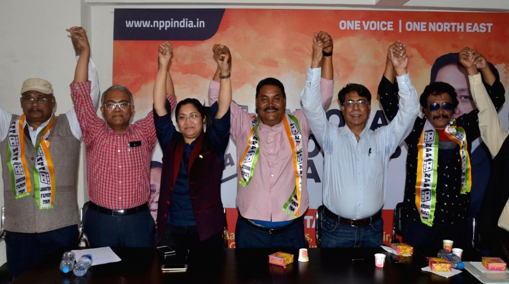 Former AGP Minister Bhaben Baruah and actor Brojen Bora join BJP in Guwahati, on March 14, 2019. - Bhaben Baruah