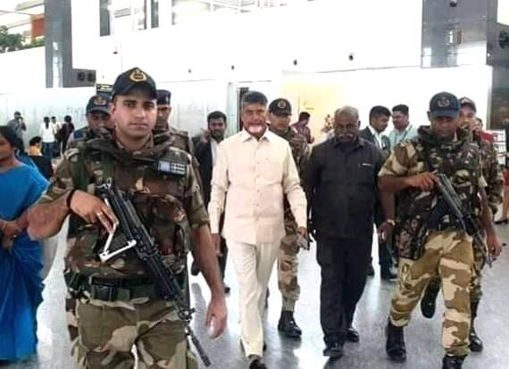 Former Andhra Pradesh Chief  Minister and TDP President N. Chandrababu Naidu arrives in Visakhapatnam to monitor the situation after the leakage of Styrene gas at LG Polymers India ... - N. Chandrababu Naidu