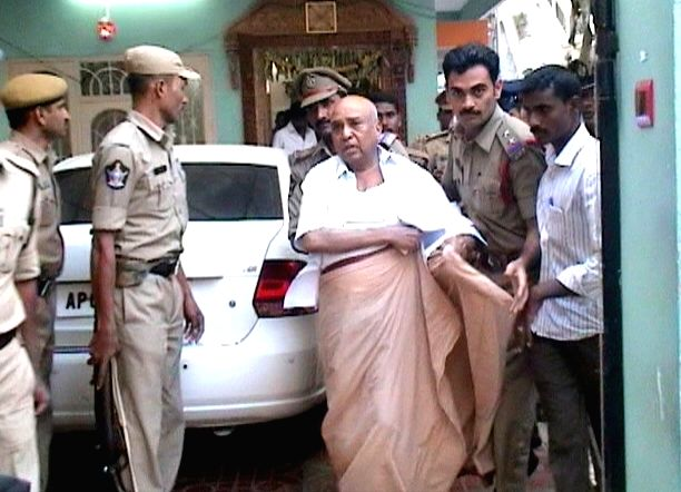 Former Andhra Pradesh minister P Shankar Rao was arrested by the Cyberabad police in connection with a land grabbing case on Jan 31. - P Shankar Rao