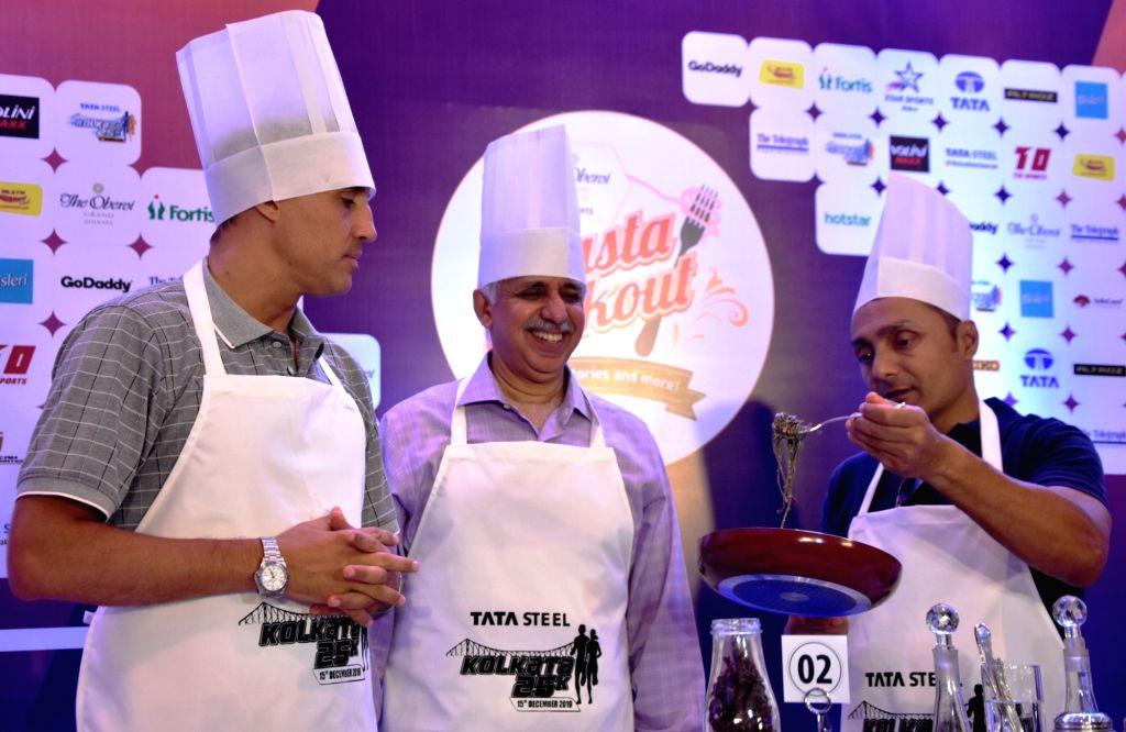 Former Argentina striker Hernan Crespo, Tata Steel Vice President (Corporate Services) Chanakya Chaudhary and actor Rahul Bose during a programme organised ahead of Tata Steel Kolkata 25K ... - Rahul Bose and Chanakya Chaudhary