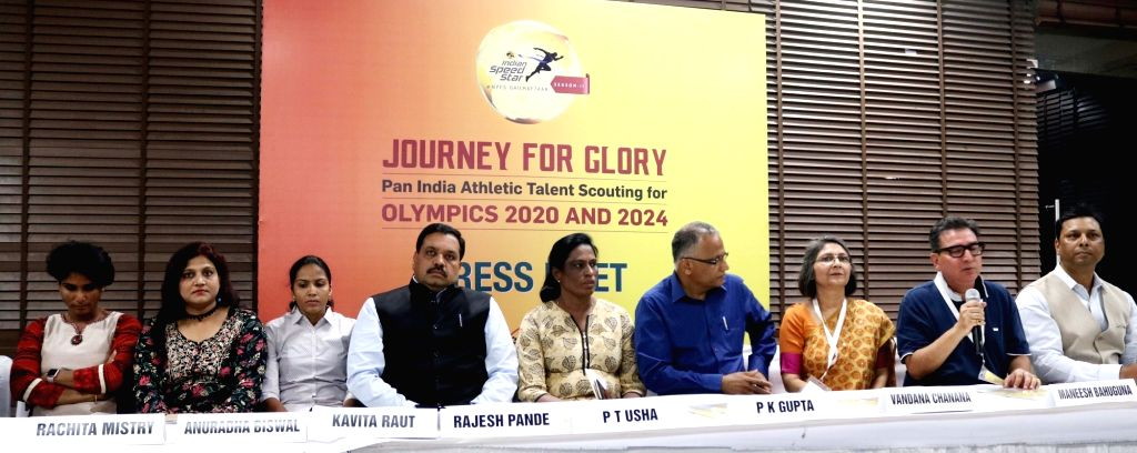 Former athlete PT Usha during a press conference regarding selection of athletes for 2020 Olympic in New Delhi, on May 10, 2017.