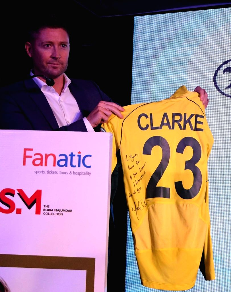 Former Australia captain Michael Clarke during the launch of his autobiography 'My Story' in Kolkata on March 14, 2017. - Michael Clarke