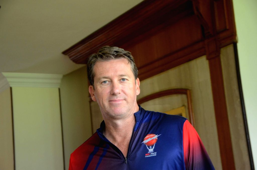 Former Australia cricketer Glenn McGrath during a press conference in Mumbai on July 25, 2017.