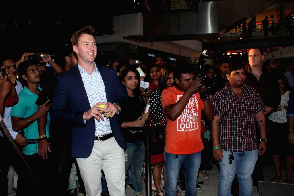 Former Australian cricket player turned actor Brett Lee during the promotion of upcoming film Unindian in Mumbai, on July 28, 2016. - Brett Lee