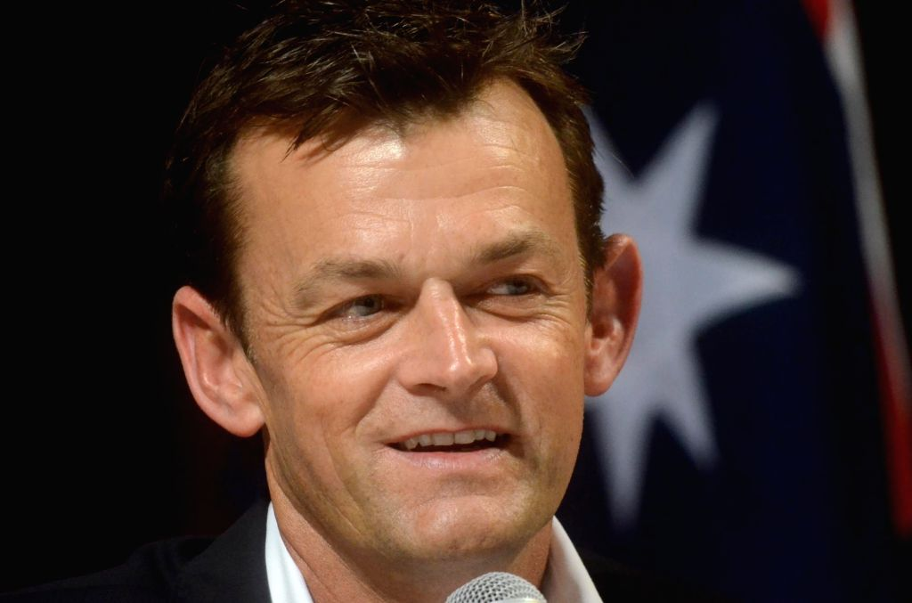Former Australian cricketer Adam Gilchrist addresses during a programme organised at Fort Campus in Mumbai on June 20, 2017.