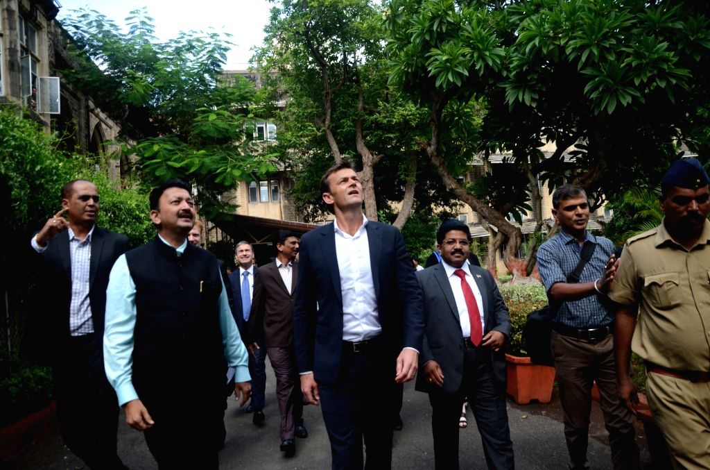 Former Australian cricketer Adam Gilchrist during a programme organised at Fort Campus in Mumbai on June 20, 2017.
