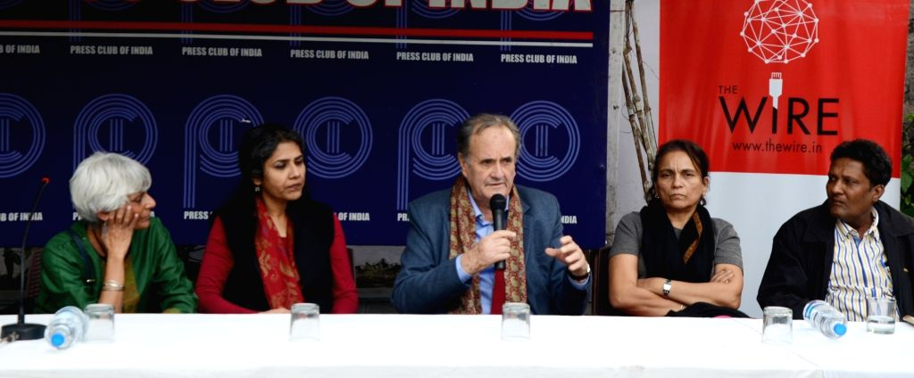 Former BBC India journalist Mark Tully during a programme organised to discuss Babri Masjid demolition in New Delhi, on Dec 6, 2017.