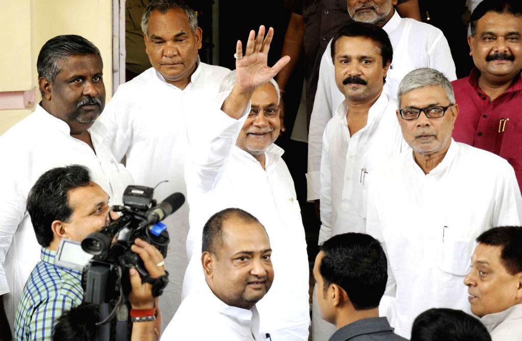 Former Bihar Chief Minister and JD-U leader Nitish Kumar arrives to attend the Monsoon Session of Bihar Legislative Council in Patna on July 1, 2014.
