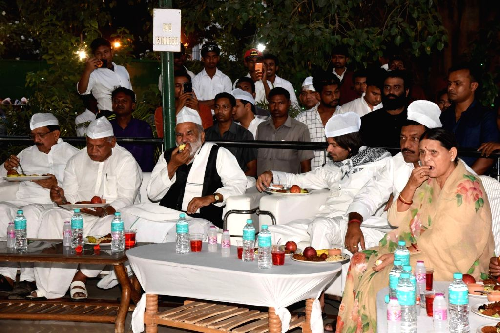 Former Bihar Chief Minister Jitan Ram Manjhi during an iftar party hosted by RJD leader Rabri Devi, in Patna on June 2, 2019. - Jitan Ram Manjhi