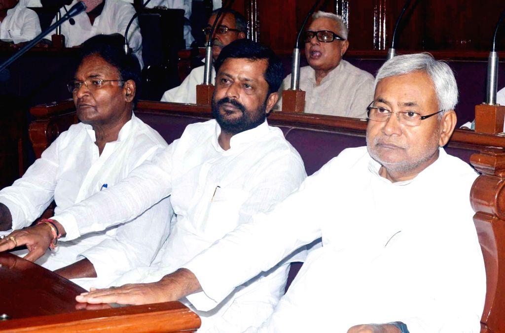 Former Bihar Chief Minister Nitish Kumar during a session of Bihar Legislative Council in Patna on June 27, 2014. - Nitish Kumar