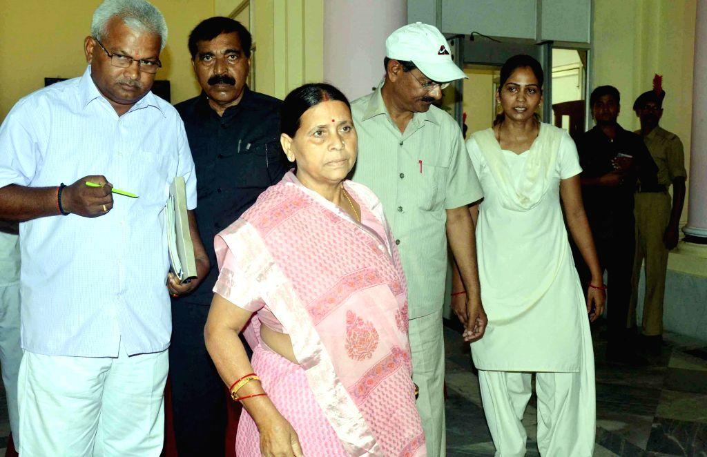 Former Bihar Chief Minister Rabri Devi arrives at Bihar Legislative Council in Patna on June 27, 2014. - Rabri Devi