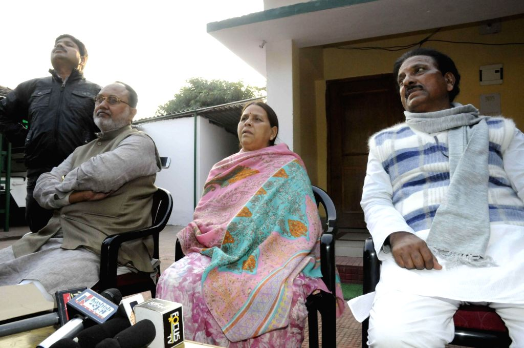 Former Chief Minister Rabri Devi during a meeting with the legislators in Patna on Dec. 6, 2013.