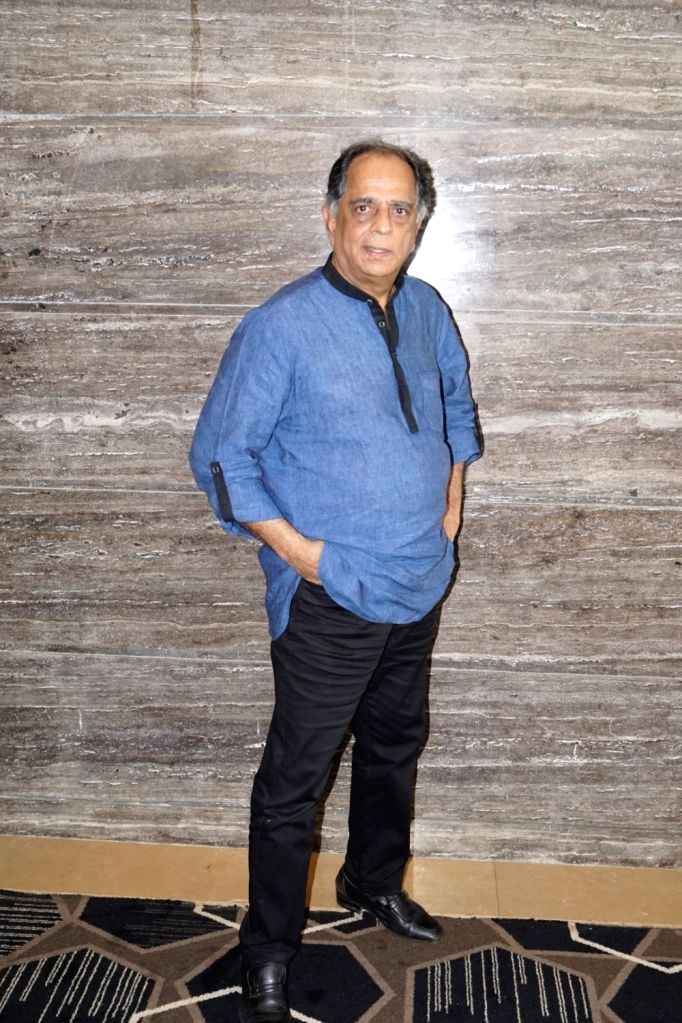 """Former chief of the Central Board of Film Certification Pahlaj Nihalani during the interview for upcoming film """"Julie 2"""" in Mumbai on Sept 26, 2017."""