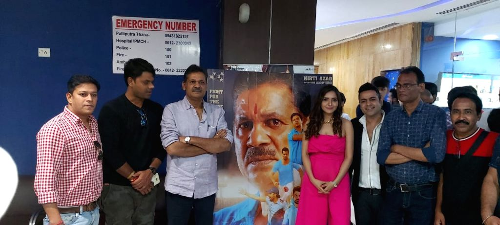 "Former cricketer and Congress leader Kirti Azad during the promotions of his upcoming film ""Kirket"" in Patna on Oct 17, 2019."