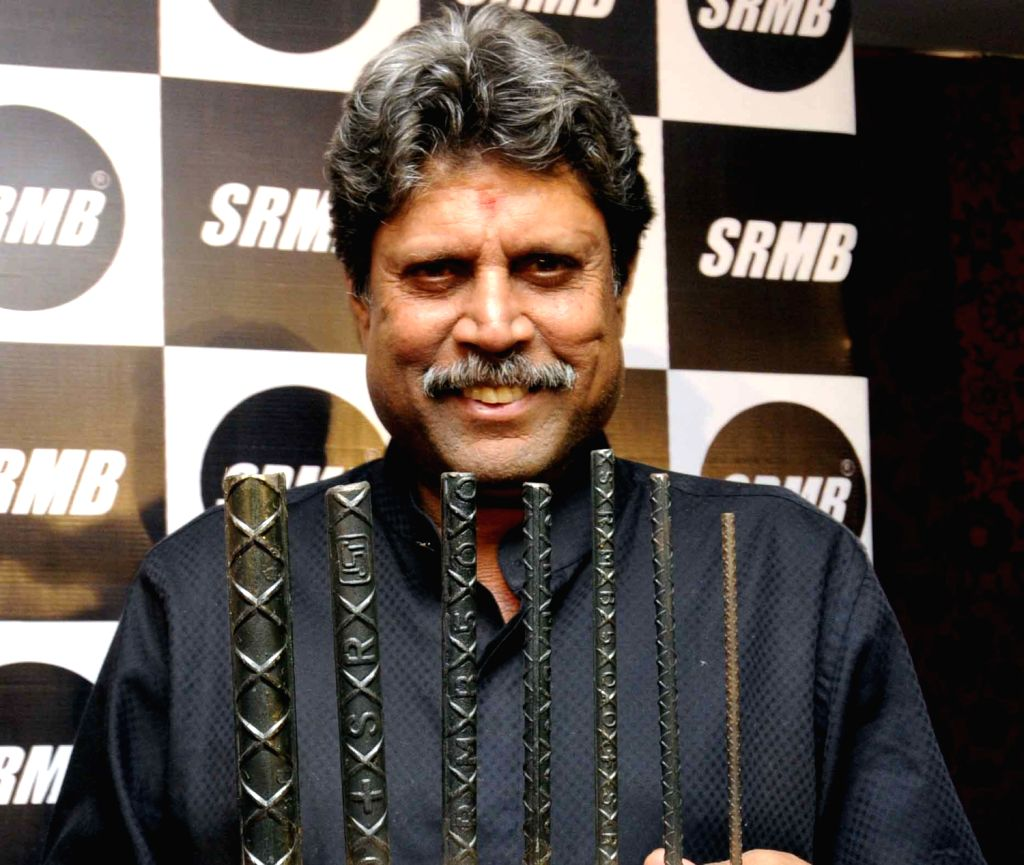 Former cricketer Kapil Dev during a product launch in Patna on August 9, 2013.