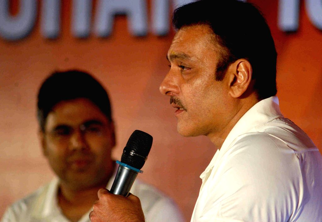 Former cricketer Ravi Shastri during a programme organised in Kolkata on July 8, 2014.