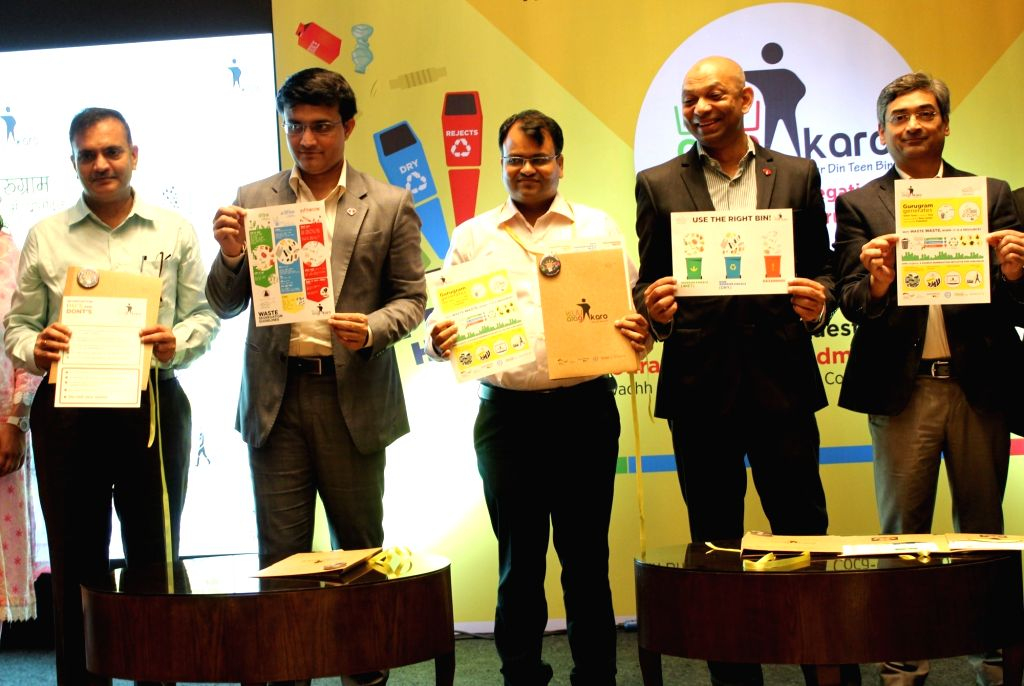 Former Cricketer Sourav Ganguly, Swachh Bharat Mission Additional Mission Director Saurabh Jain, Coca-Cola India Public Affairs and Communications Vice President Ishteyaque Amjad, Tetra ... - Sourav Ganguly and Saurabh Jain
