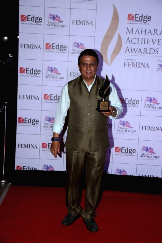Former cricketer Sunil Gavaskar at Maharashtra Achievers' Awards 2019 in Mumbai, on March 14, 2019.