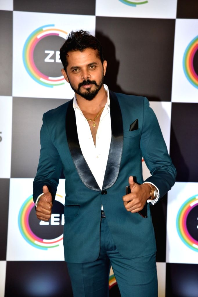 Former cricketer turned actor S. Sreesanth on the red carpet of Zee5's first anniversary celebrations in Mumbai, on Feb 14, 2019. - S. Sreesanth