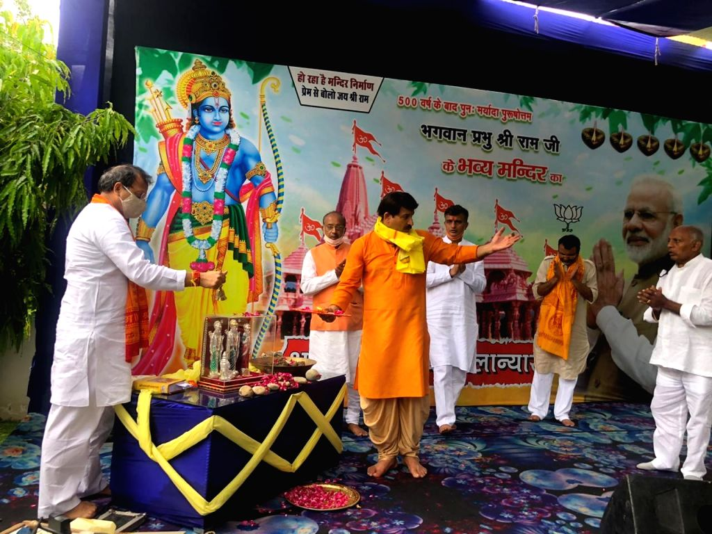 Former Delhi BJP President and party MP from North East Delhi Manoj Tiwari offered prayers to Lord Ram and sang self-composed hymns along with other dignitaries as they witnessed the live ... - Narendra Modi