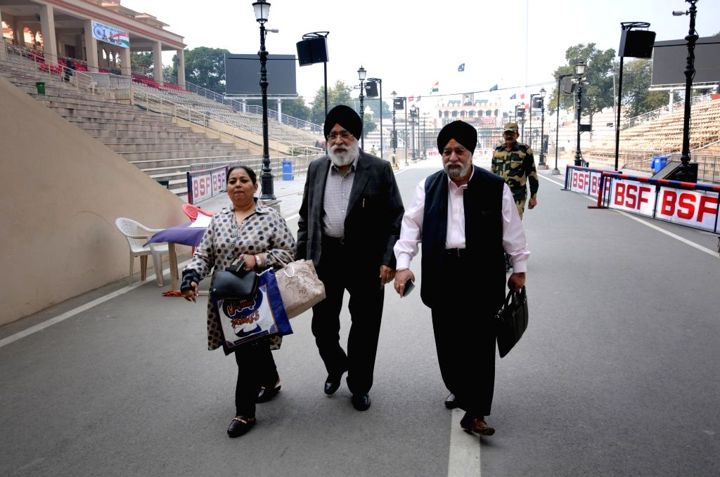Former Delhi Sikh Gurdwara Management Committee president Paramjit Singh Sarna and his brother Harvinder Singh Sarna return back to India from Pakistan where they attended the ground breaking ... - Paramjit Singh Sarna and Harvinder Singh Sarna