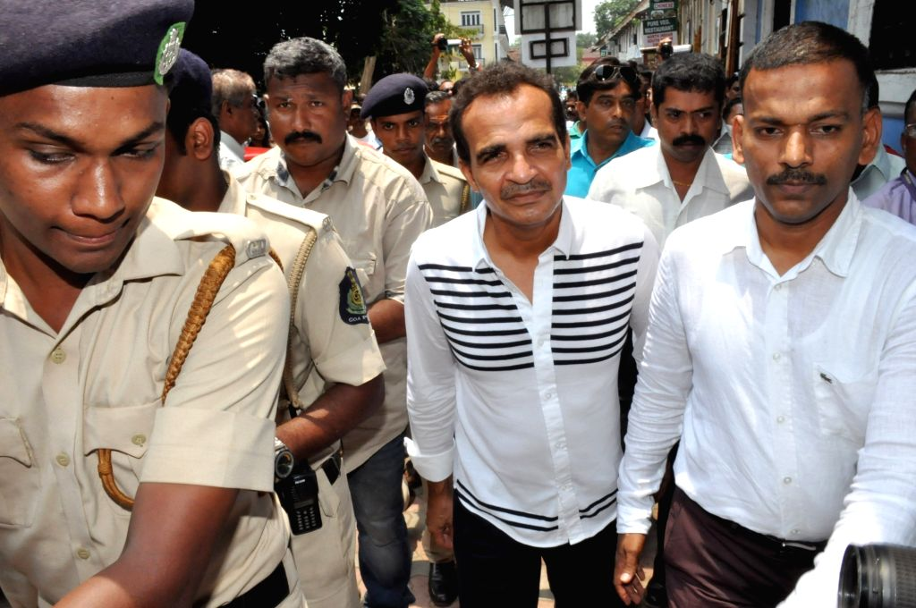 Former education minister of Goa and unattached Congress MLA Atanasio Monserrate also known as Babush, who was booked by police for allegedly raping a minor girl, being taken to be produced ...
