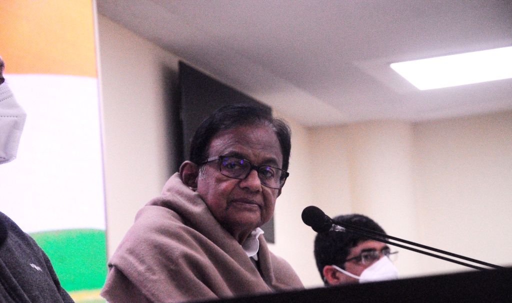 Former finance Minister P.Chidambaram addressing a press conference in New Delhi on Thursday,28 January 2021. - P.
