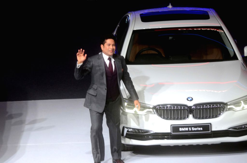 Former India cricketer Sachin Tendulkar during the launch of BMW 5 Series 2017 model in Mumbai on June 29, 2017. - Sachin Tendulkar